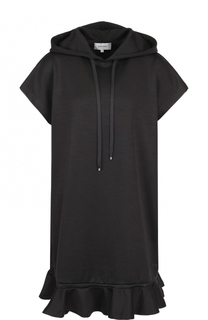 Платье-толстовка с капюшоном и оборкой Carven