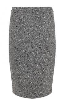 Шерстяная юбка-миди с разрезом Escada