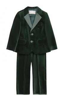 Хлопковый костюм с пиджаком на двух пуговицах Il Gufo