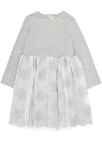 Платье с кружевной отделкой Il Gufo