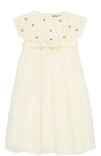Платье с декоративной отделкой Il Gufo
