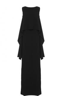 Платье-макси без рукавов с оборками Givenchy