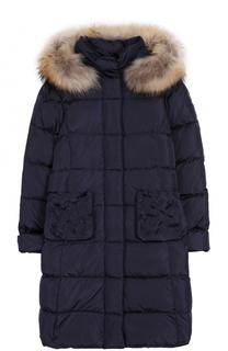Пуховое стеганое пальто с капюшоном Il Gufo