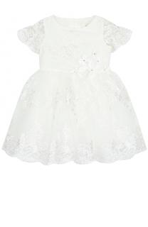 Платье с кружевной отделкой David Charles