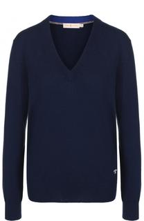 Кашемировый пуловер с V-образным вырезом Tory Burch