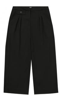 Шерстяные брюки прямого кроя Armani Junior