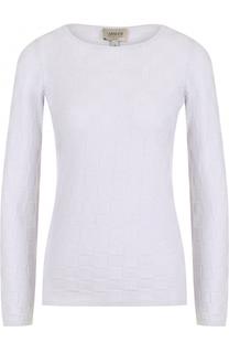 Кашемировый пуловер фактурной вязки Armani Collezioni