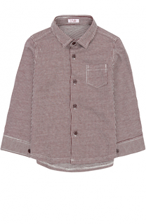 Хлопковая рубашка в полоску Il Gufo
