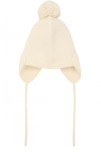 Вязаная шапка с логотипом бренда Armani Junior