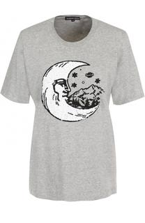 Хлопковая футболка с пайетками Markus Lupfer