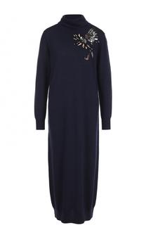 Шерстяное платье-миди с пайетками Markus Lupfer