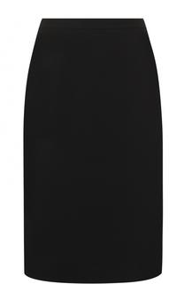 Однотонная юбка-миди с разрезом Elie Tahari