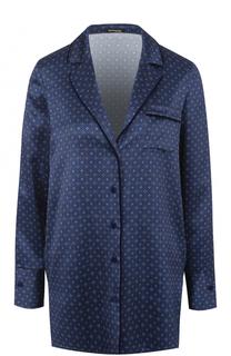 Шелковая блуза прямого кроя с принтом Kiton