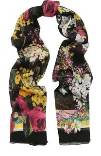 Шелковый шарф с цветочным принтом Dolce & Gabbana