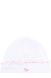 Хлопковая шапка с вышивкой Kissy Kissy