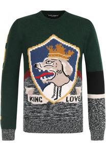 Джемпер из смеси шерсти и кашемира Dolce & Gabbana