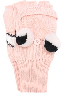 Вязаные перчатки с декором Stella McCartney