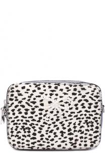 Кожаная сумка со стразами Simonetta