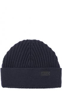 Шерстяная шапка с отворотом HUGO