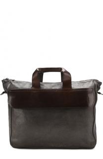 Кожаная сумка на молнии с плечевым ремнем Numero 10