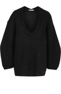 Пуловер фактурной вязки с V-образным вырезом T by Alexander Wang