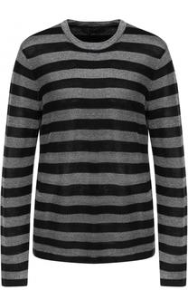 Пуловер в полоску с круглым вырезом Alexander Wang