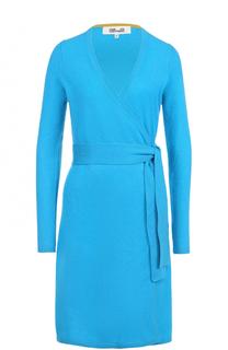 Кашемировое платье с запахом и поясом Diane Von Furstenberg