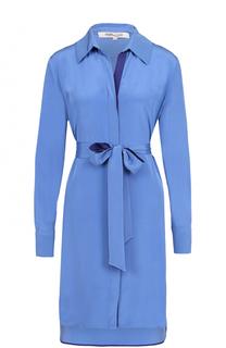 Шелковое платье-рубашка с поясом Diane Von Furstenberg