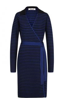 Вязаное платье с запахом и поясом Diane Von Furstenberg