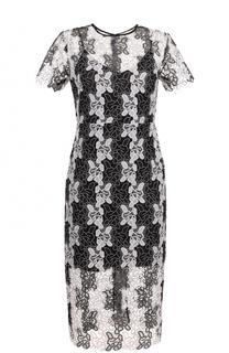 Приталенное кружевное платье-миди Diane Von Furstenberg