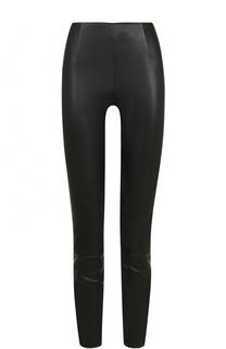 Укороченные кожаные брюки-скинни T by Alexander Wang
