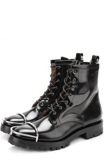 Кожаные ботинки с металлической отделкой на мысе Alexander Wang