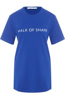 Хлопковая футболка с логотипом бренда Walk of Shame