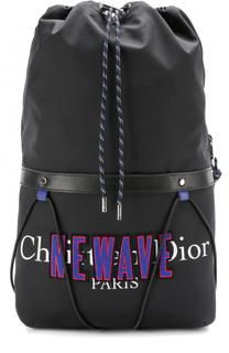 Текстильный рюкзак с кожаной отделкой Dior