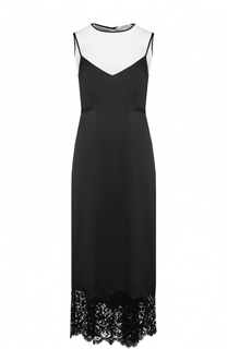 Приталенное платье-миди с кружевной отделкой Dorothee Schumacher
