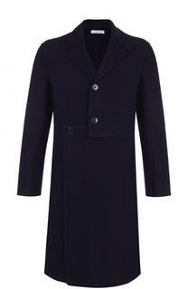 Однобортное пальто асимметричного кроя из смеси шерсти и кашемира J.W. Anderson
