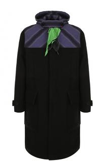Пальто из смеси шерсти и кашемира с капюшоном и платком J.W. Anderson