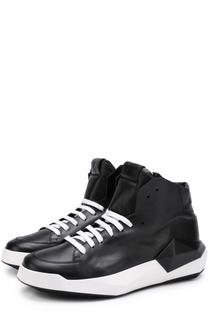 Высокие кожаные кеды на шнуровке с молнией Cinzia Araia