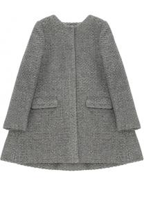 Пальто с круглым вырезом и металлизированной отделкой Tartine Et Chocolat