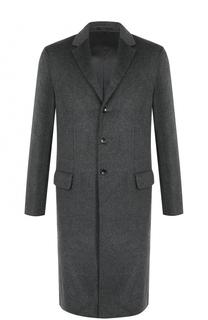 Однобортное пальто из смеси шерсти и кашемира Joseph