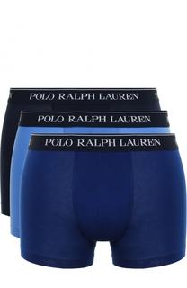 Комплект из трех хлопковых боксеров с широкой резинкой Polo Ralph Lauren