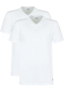 Комплект из двух хлопковых футболок с V-образным вырезом Polo Ralph Lauren