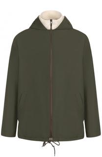 Утепленная куртка на молнии с капюшоном Maison Margiela