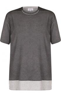 Хлопковая футболка свободного кроя Maison Margiela