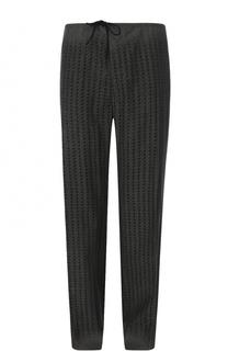 Шерстяные брюки свободного кроя с поясом на кулиске Maison Margiela