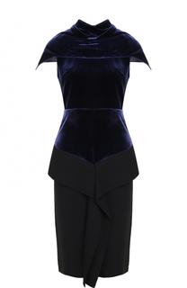 Приталенное бархатное платье-миди Roland Mouret