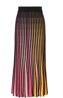 Хлопковая юбка-миди в контрастную полоску Kenzo