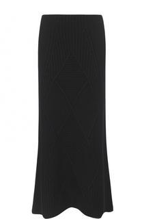 Шерстяная юбка-миди фактурной вязки Kenzo