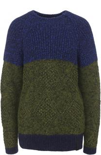 Шерстяной пуловер с круглым вырезом Kenzo