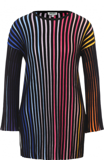 Пуловер в контрастную полоску с укороченным рукавом Kenzo